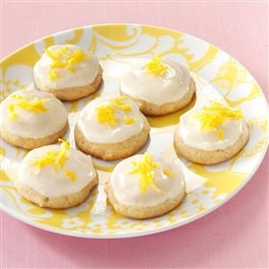 Iced Honey Lemon Cookies