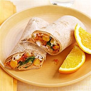 Indian Spiced Chickpea Wraps Recipe