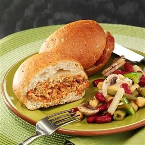 Italian Cheese Turkey Burgers Recipe