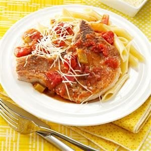 Italian Chops With Pasta Recipe