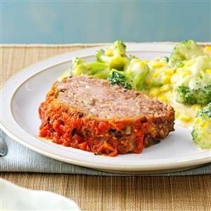 Italian Mushroom Meat Loaf Recipe
