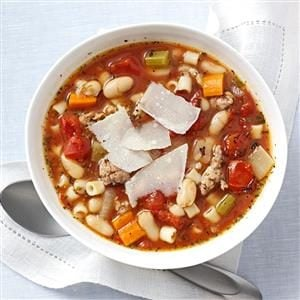 Italian Sausage Minestrone for Two Recipe