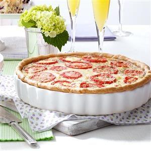 Italian Tomato Onion Quiche Recipe