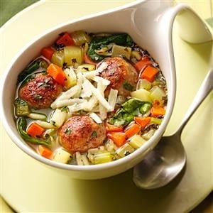 Italian Wedding Soup with Meatballs Recipe