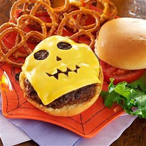 Jack-o'-Lantern Burgers Recipe