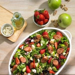 Johnsonville Strawberry and Apple Chicken Sausage Salad Recipe