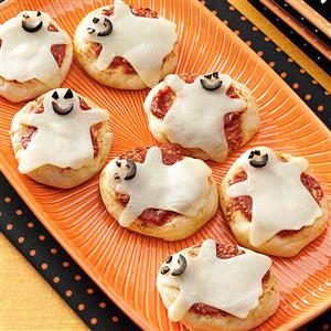 Kid-Size Ghost Pizzas Recipe