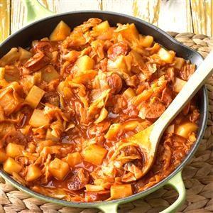Kielbasa Cabbage Skillet Recipe