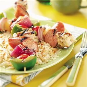 Kielbasa Chicken Kabobs Recipe