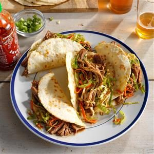 Korean Pulled Pork Tacos