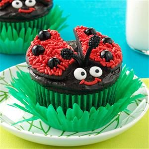 Lady Bug Chocolate Cupcakes Recipe