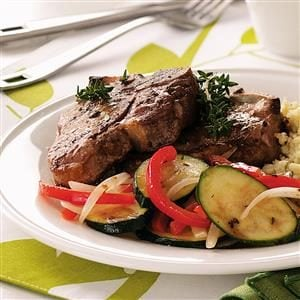 Lamb With Sauteed Veggies