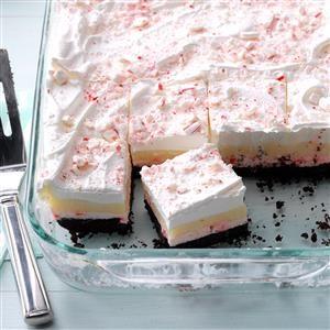 Layered Candy Cane Dessert Recipe