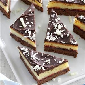 Layered Chocolate-Raspberry Triangles Recipe