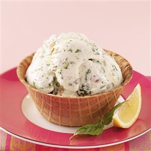 Lemon-Basil Frozen Yogurt Recipe