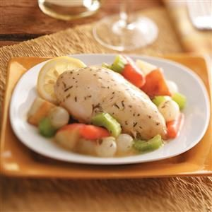 Lemon Chicken Breasts with Veggies Recipe