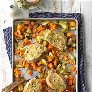 Lemon-Dijon Pork Sheet Pan Supper Recipe
