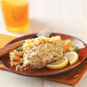 Lemon-Mustard Pork Chops Recipe