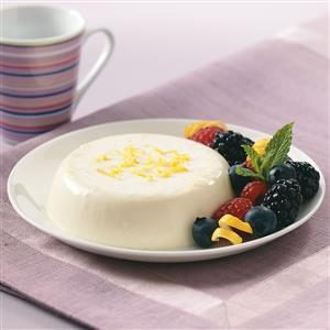 Lemon Panna Cotta with Berries