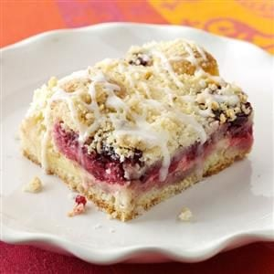 Lemon-Raspberry Streusel Cake Recipe