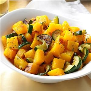 Lemon-Roasted Squash with Tarragon Recipe