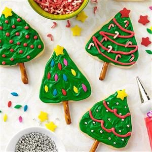 Lemon Shortbread Trees