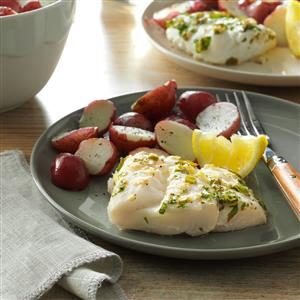 Lemony Parsley Baked Cod