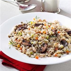 Lentil White Bean Pilaf Recipe