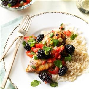 Lime Chicken with Blackberry Salsa Recipe