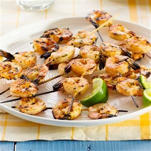 Lime-Cilantro Shrimp Skewers Recipe