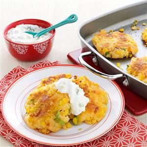 Loaded Cheddar-Corn Potato Patties Recipe
