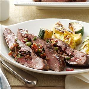 Loaded Flank Steak Recipe