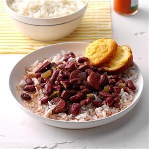 Pressure Cooker Lora's Red Beans & Rice Recipe