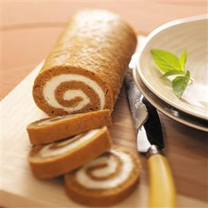 Low-Fat Pumpkin Cake Roll