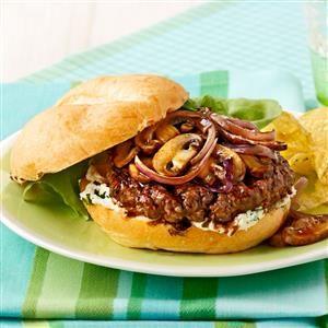 Mahogany-Glazed Mushroom Burgers Recipe