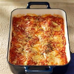Makeover Beef & Sausage Lasagna Recipe