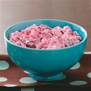 Makeover Creamy Cranberry Salad Recipe