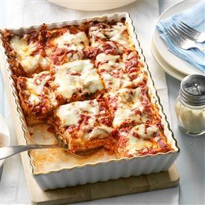Makeover Meatless Lasagna Recipe