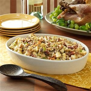 Makeover Sausage Pecan Stuffing Recipe