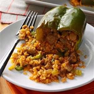 Makeover Sausage-Stuffed Peppers Recipe