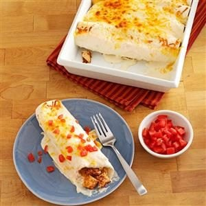 Makeover Sour Cream Chicken Enchiladas Recipe