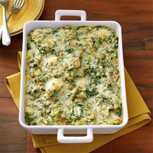 Makeover Spinach and Artichoke Casserole Recipe