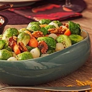 Maple-Dijon Sprout Medley Recipe
