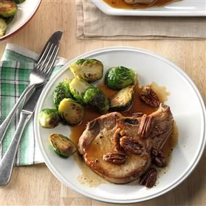 Maple-Pecan Pork Chops Recipe