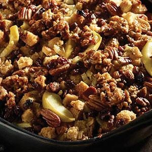 Maple Sausage Fruit and Nut Stuffing
