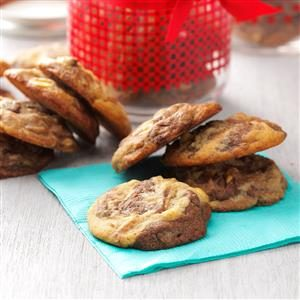 Marbled Chocolate Peanut Cookies Recipe