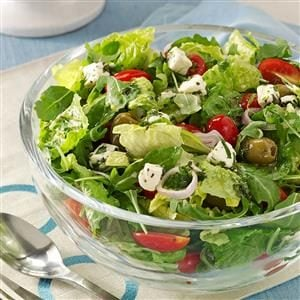 Marinated Cheese-Topped Salad Recipe