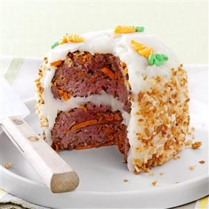 Meat Loaf Cake for Two Recipe