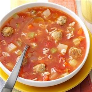 Meatball Alphabet Soup Recipe