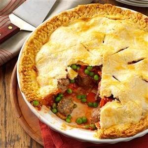 Meatball Pie Recipe